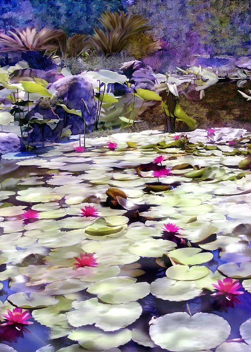 Lotus Greeting Card featuring the photograph Hidden Pond Lotusland by Kurt Van Wagner