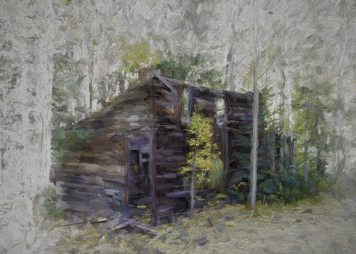 Hiding Greeting Card featuring the photograph Hiding In The Forest by David Kehrli