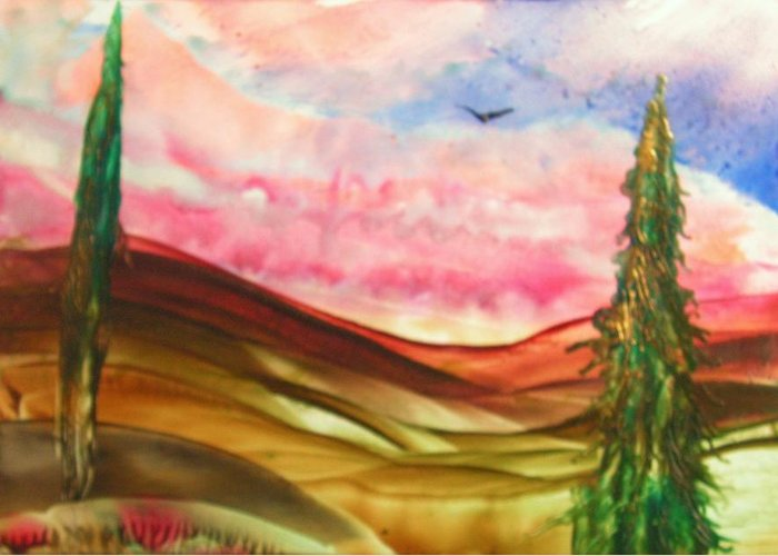 Greeting Card featuring the painting High Flyer by John Vandebrooke