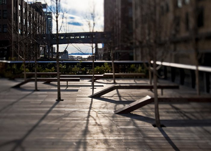 Architectural Detail Greeting Card featuring the photograph High Line Park by Eddy Joaquim