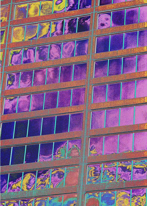 Psychedelic Greeting Card featuring the photograph High Roller Suites At The Flamingo Hotel by Richard Henne