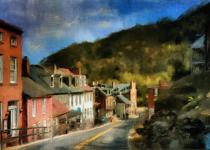 Harpers Ferry Digital Art Greeting Cards