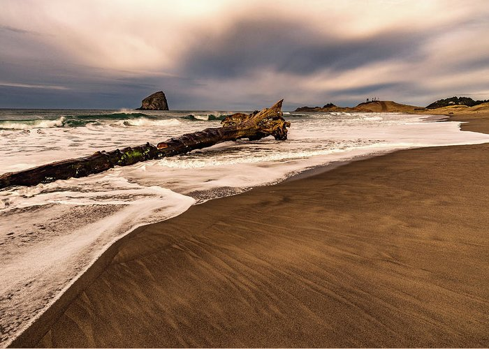 Coast Greeting Card featuring the photograph High Tide by Jim Simmermon