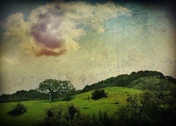 Textured Landscapes Digital Art Greeting Cards