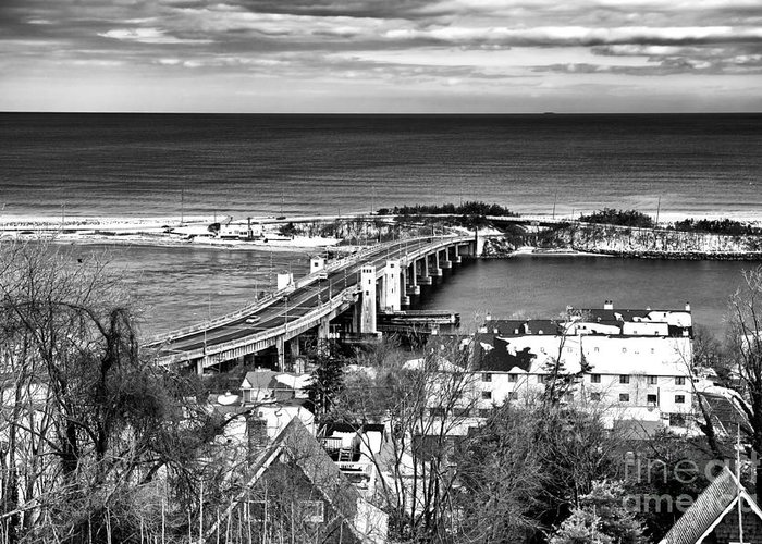 Highlands Bridge Greeting Card featuring the photograph Highlands Bridge by John Rizzuto