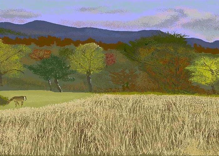 Hills Greeting Card featuring the digital art Hill Country Colors by Carole Boyd