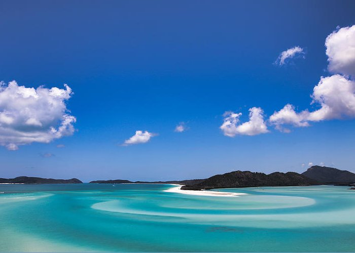 Hill Greeting Card featuring the photograph Hill Inlet by James Kenning