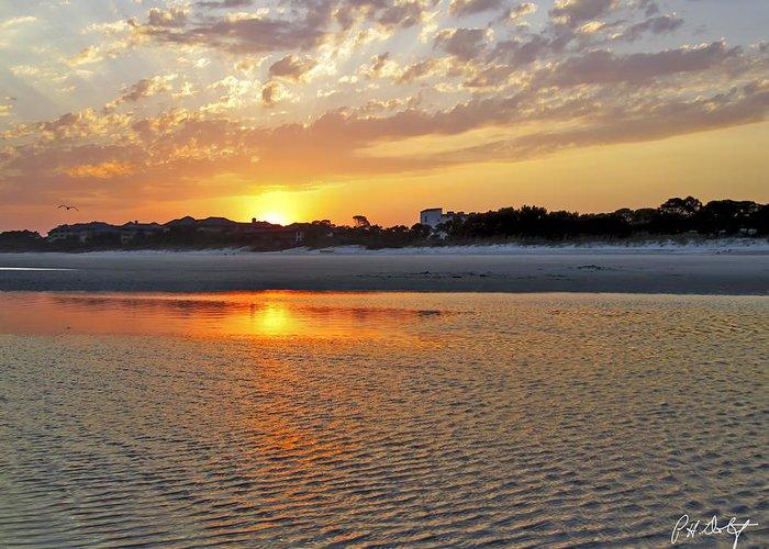 Beach Greeting Card featuring the photograph Hilton Head Beach by Phill Doherty