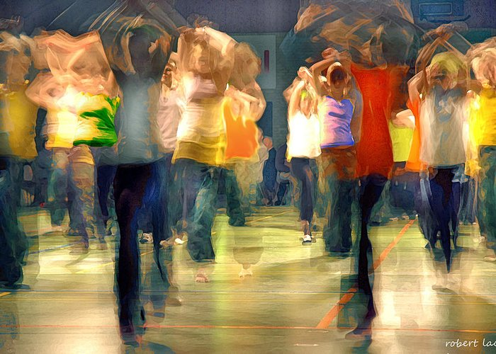 Hip Hop Greeting Card featuring the photograph Hip Hop Dance Night by Robert Lacy