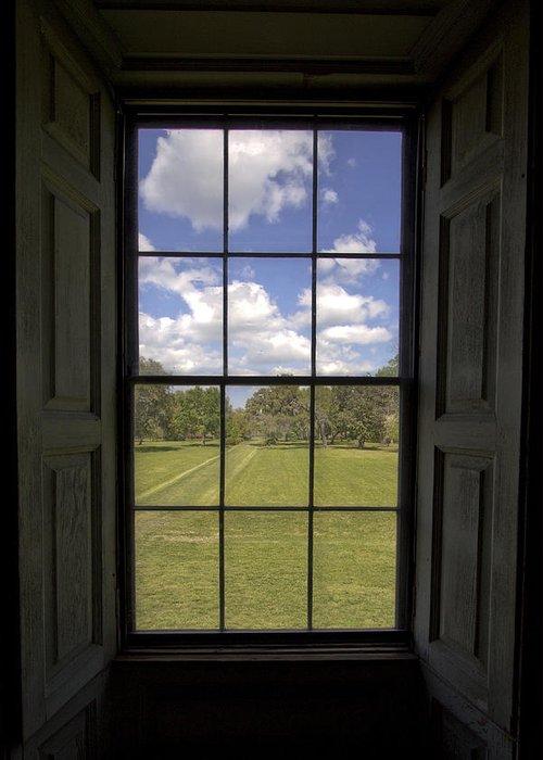 Historic Greeting Card featuring the photograph Historic Drayton Hall Window In Charleston South Carolina by Dustin K Ryan