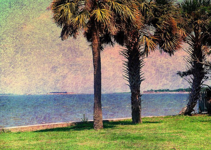 Fort Sumter Greeting Card featuring the photograph Historic Fort Sumter Charleston Sc by Susanne Van Hulst