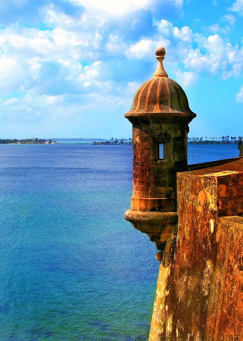 Fort Greeting Card featuring the photograph Historic San Juan Fort by Perry Webster