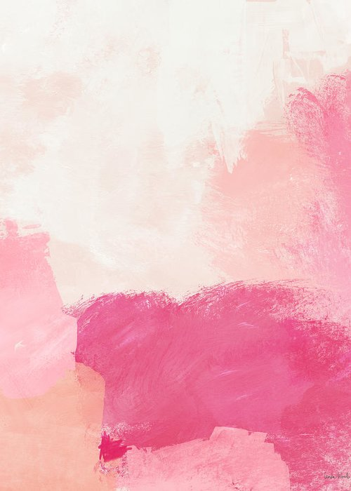 Abstract Greeting Card featuring the mixed media History of Pink- Abstract Art by Linda Woods by Linda Woods