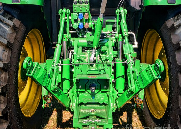 John Greeting Card featuring the photograph Hitch A Deere by Olivier Le Queinec