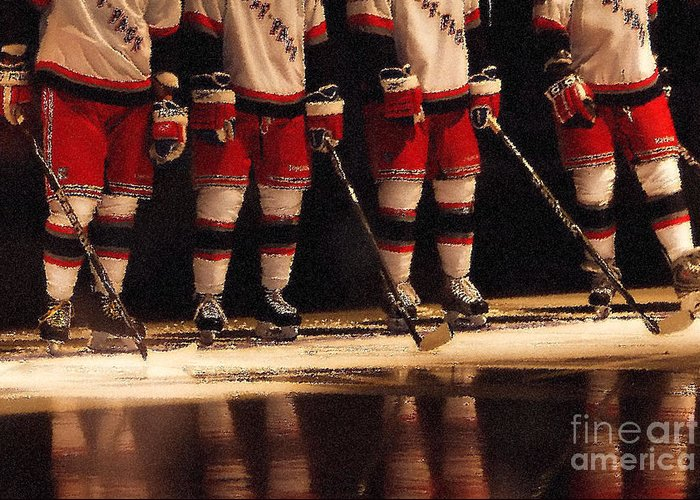 Hockey Greeting Card featuring the photograph Hockey Reflection by Karol Livote