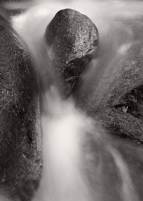 Clear Greeting Card featuring the photograph Hogback Creek And Granite Inyo Natl Forest Bw by Steve Gadomski