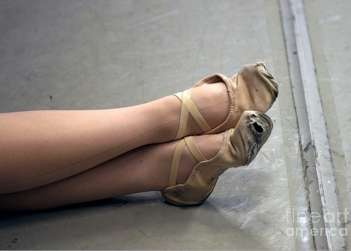 Dance Greeting Card featuring the photograph Holes In Dance Shoes by Steve Augustin