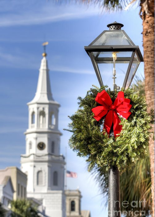 Gas Lamp Photographs Greeting Cards