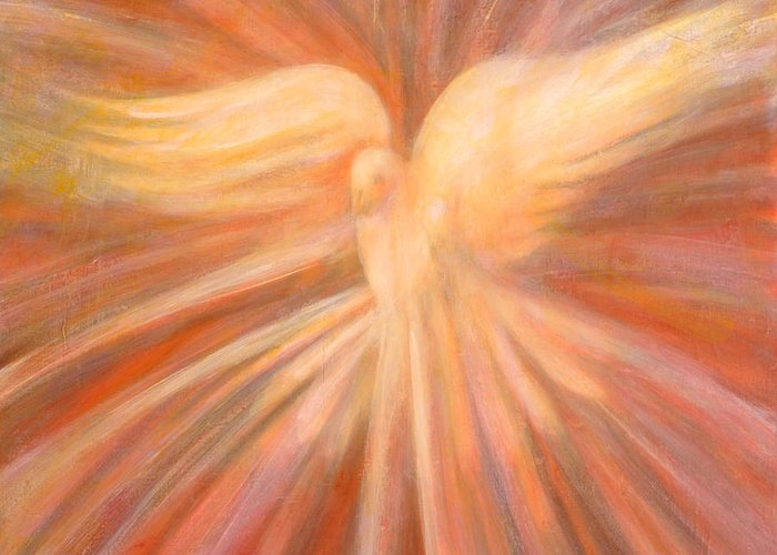 Holy Spirit Greeting Card featuring the painting Holy Spirit Appearing As A Dove by Kip Decker