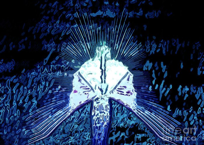 Spirit Greeting Card featuring the digital art Holy Spirit by Patrick Guidato