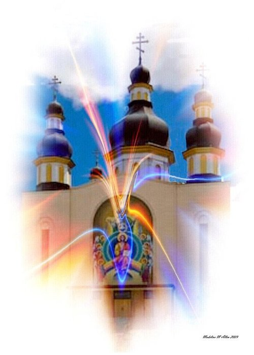 Smudgeart Greeting Card featuring the photograph Holy Trinity Cathedral by Madeline Allen - SmudgeArt