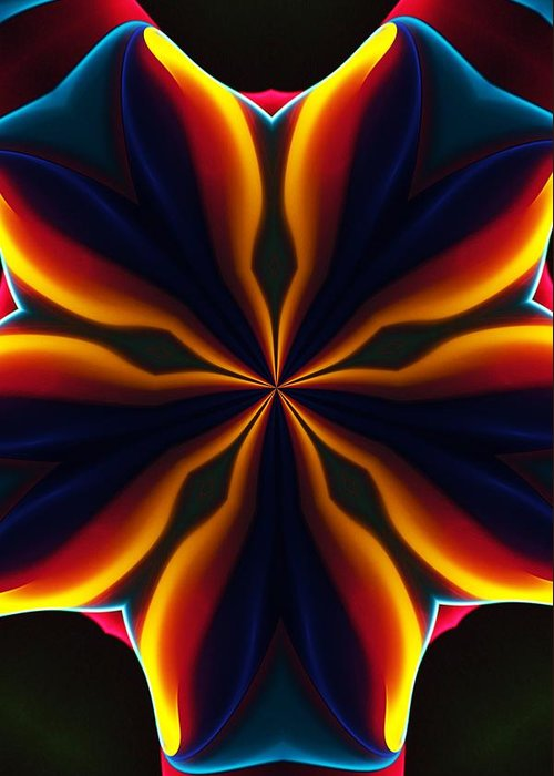 Abstract Greeting Card featuring the digital art Homage to Georgia O'Keeffe by David Lane