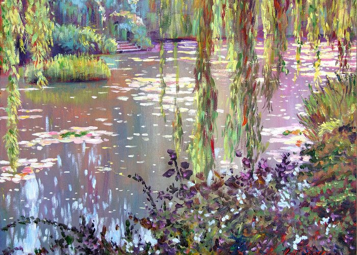 Impressionism Greeting Card featuring the painting Homage To Monet by David Lloyd Glover