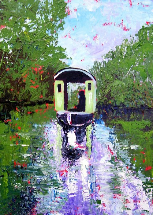 River Greeting Card featuring the painting Homage To Monet by Paul Sandilands