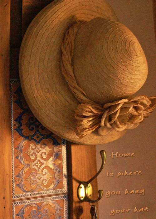 Still Life Greeting Card featuring the photograph Home Is Where by Holly Kempe