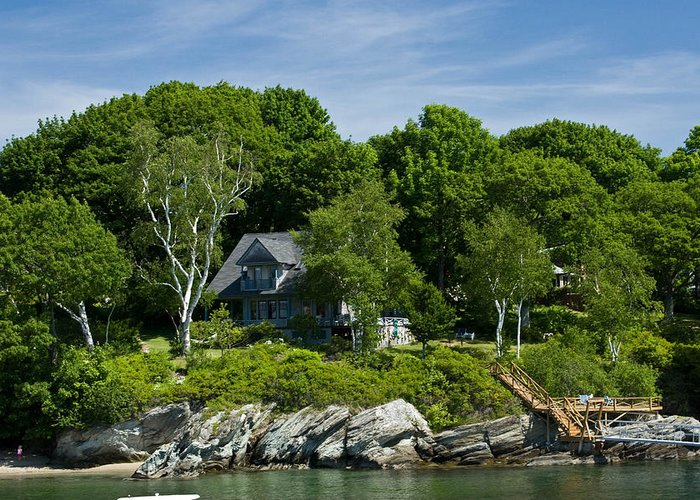 Maine Greeting Card featuring the photograph Home On Little Diamond Island by Filipe N Marques