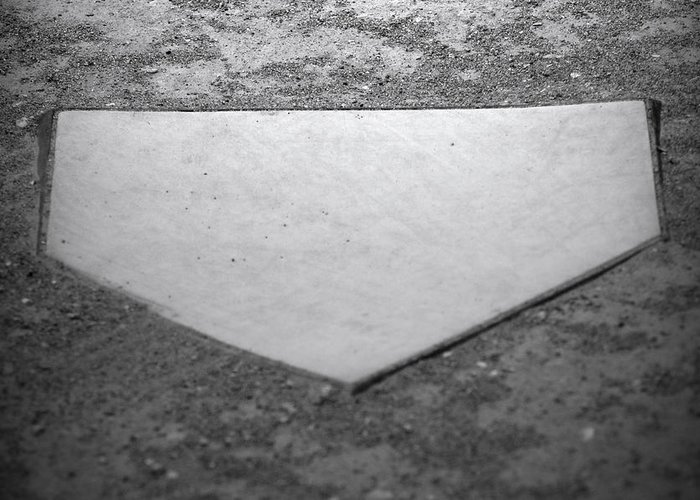 Home Plate Greeting Card featuring the photograph Home Plate by Shawn Wood