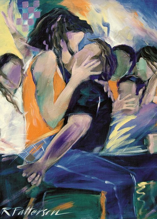 Figurative Greeting Card featuring the painting Homecoming by Ron Patterson
