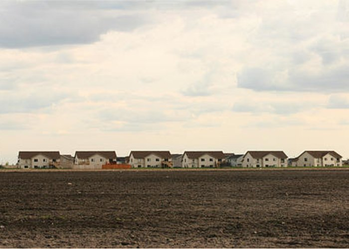 Brown Greeting Card featuring the photograph Homes On The Prairie by Steve Augustin