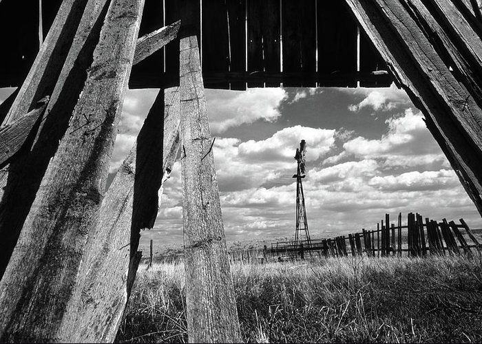Alberta Greeting Card featuring the photograph Homestead by Bob Christopher
