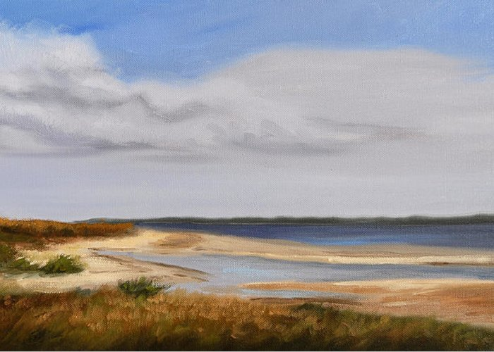 Landscape Greeting Card featuring the painting Honeymoon Island by Greg Neal