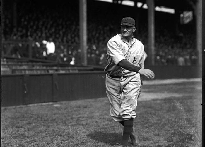 Baseball Greeting Card featuring the photograph Honus Wagner - Pittsburgh Pirates by David Bearden