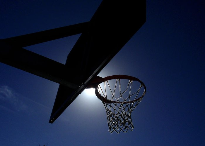 Sun Greeting Card featuring the photograph Hoop Dreams by Edan Chapman