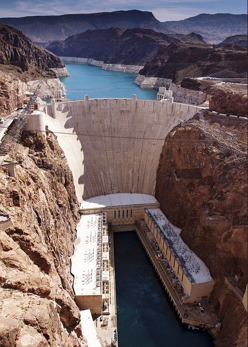 Hoover Greeting Card featuring the photograph Hoover Dam II by Ricky Barnard