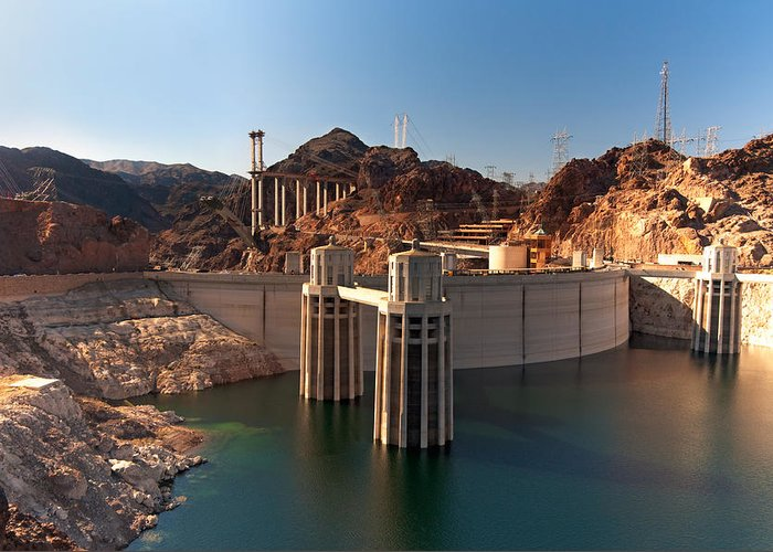 Hoover Dam Greeting Card featuring the photograph Hoover Dam by Melody Watson