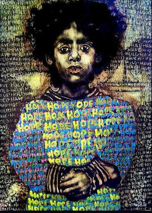 Greeting Card featuring the mixed media Hope by Chester Elmore