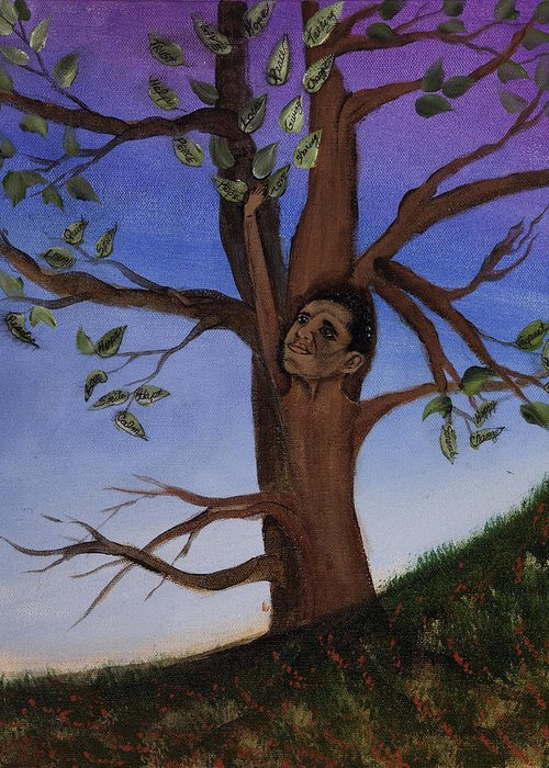 Trees Greeting Card featuring the painting Hope by Julia Ellis