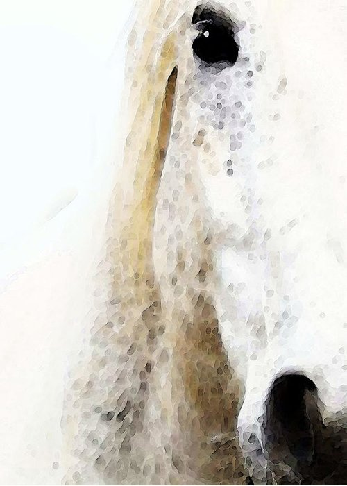 Quarter Horses Digital Art Greeting Cards
