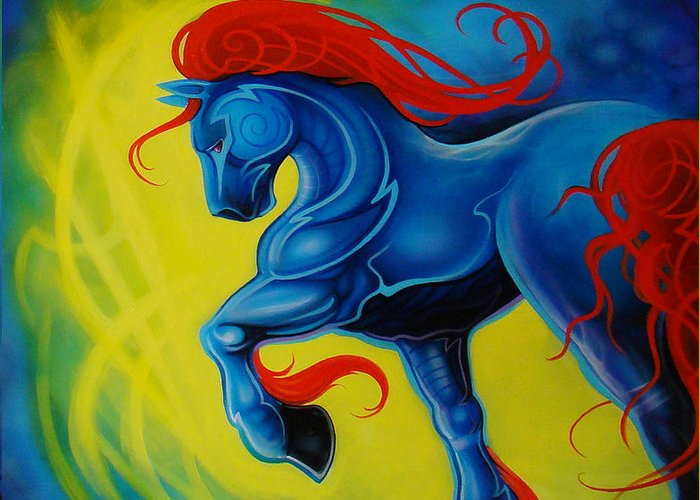 Horse Greeting Card featuring the painting Horse by Joshua South