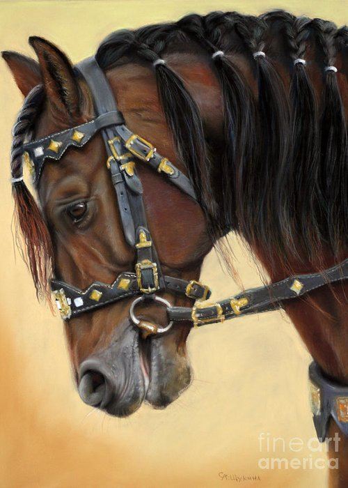 Horses Pastels Greeting Cards