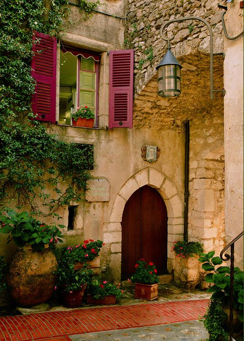 Provence Greeting Card featuring the photograph Hostelliere by John Galbo