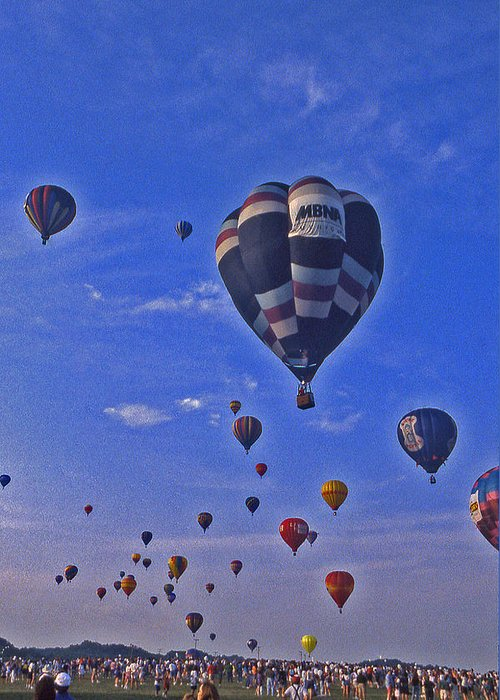 Hot Air Balloon Greeting Card featuring the photograph Hot Air Balloon - 14 by Randy Muir