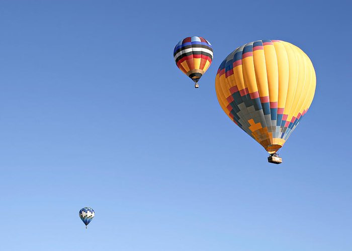 Balloons Greeting Card featuring the photograph Hot Air Balloon Ride A Special Adventure by Christine Till