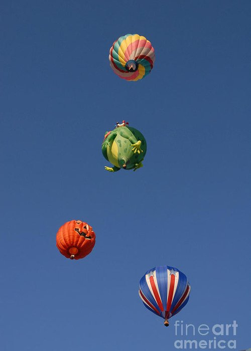 Hot Air Balloon Greeting Card featuring the photograph Hot Air Rally by Dennis Hammer