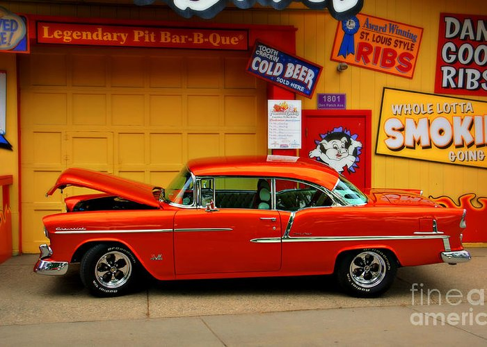 Car Greeting Card featuring the photograph Hot Rod Bbq by Perry Webster