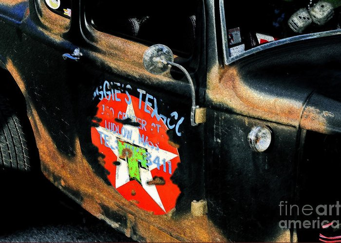 Hot Rod Greeting Card featuring the painting Hot Rod by David Lee Thompson